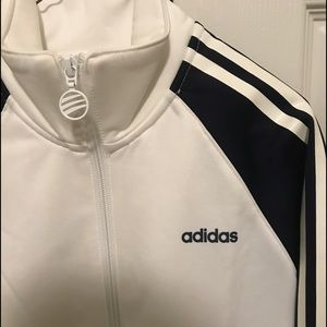 adidas Tops - Adidas track jacket (white) size small